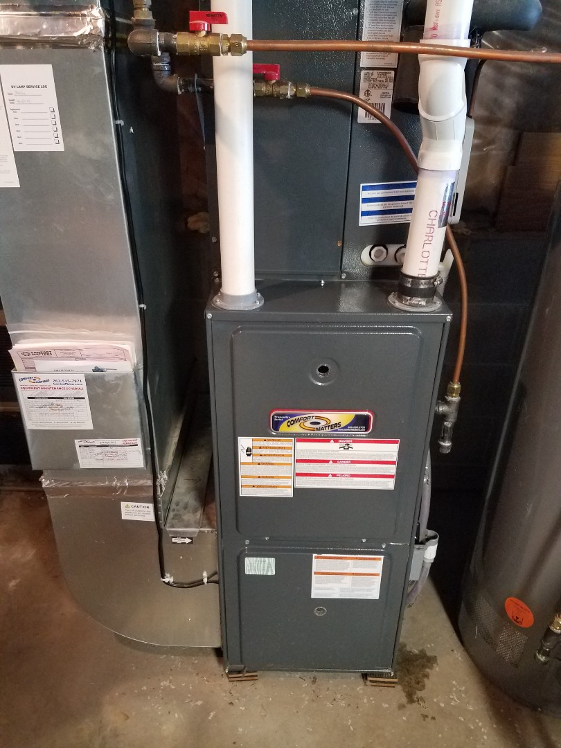 Corcoran, MN - Heating maintenance. Performed cleaning and tune up on a Comfort Matters furnace.