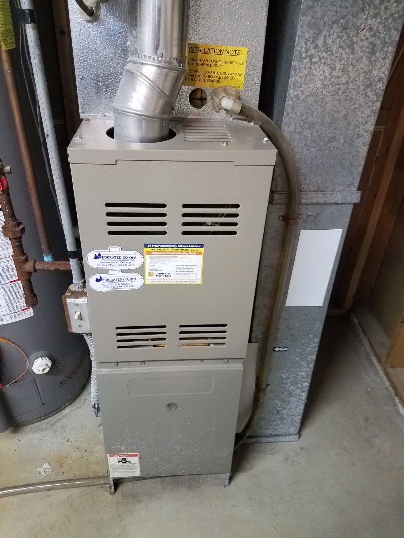Otsego, MN - Furnace maintenance. Performed tune up and cleaning on a Goodman furnace.