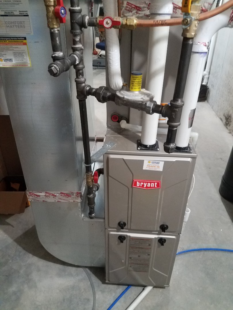 Plymouth, MN - Furnace maintenance. Performed tune up and cleaning on a Bryant furnace. Cleaned blower wheel section and installed furnace vent protection.
