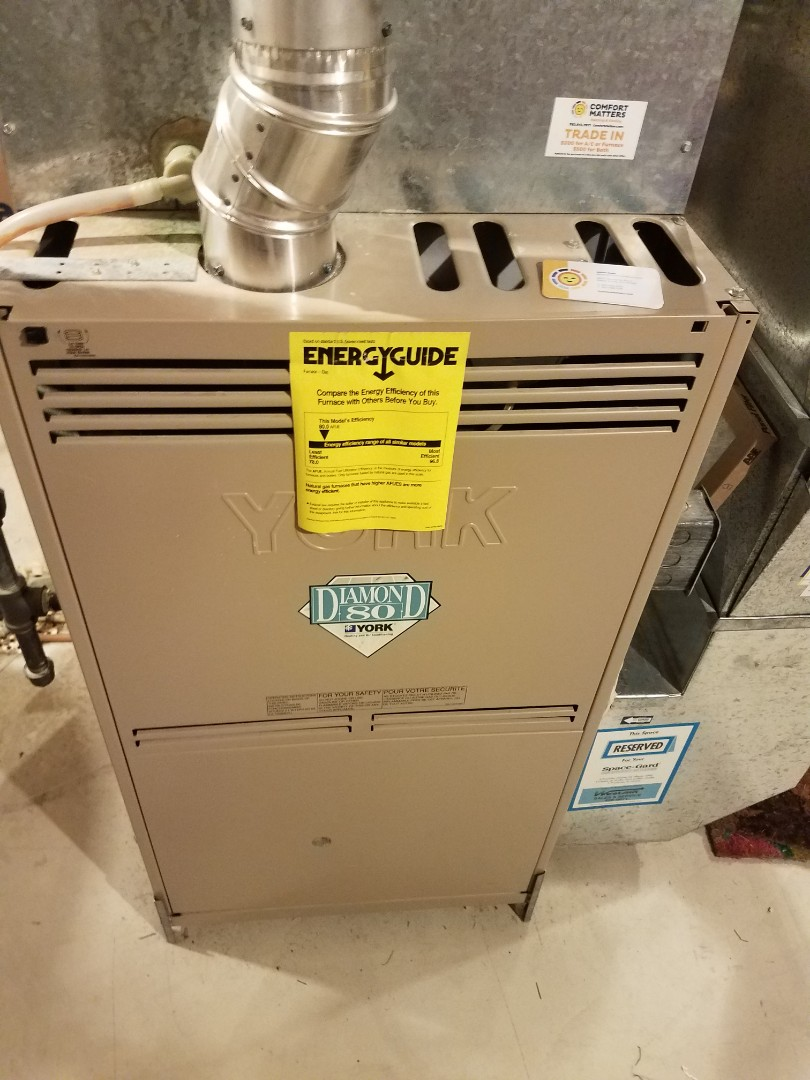 Plymouth, MN - Furnace maintenance. Performed tune up and cleaning on a York furnace.
