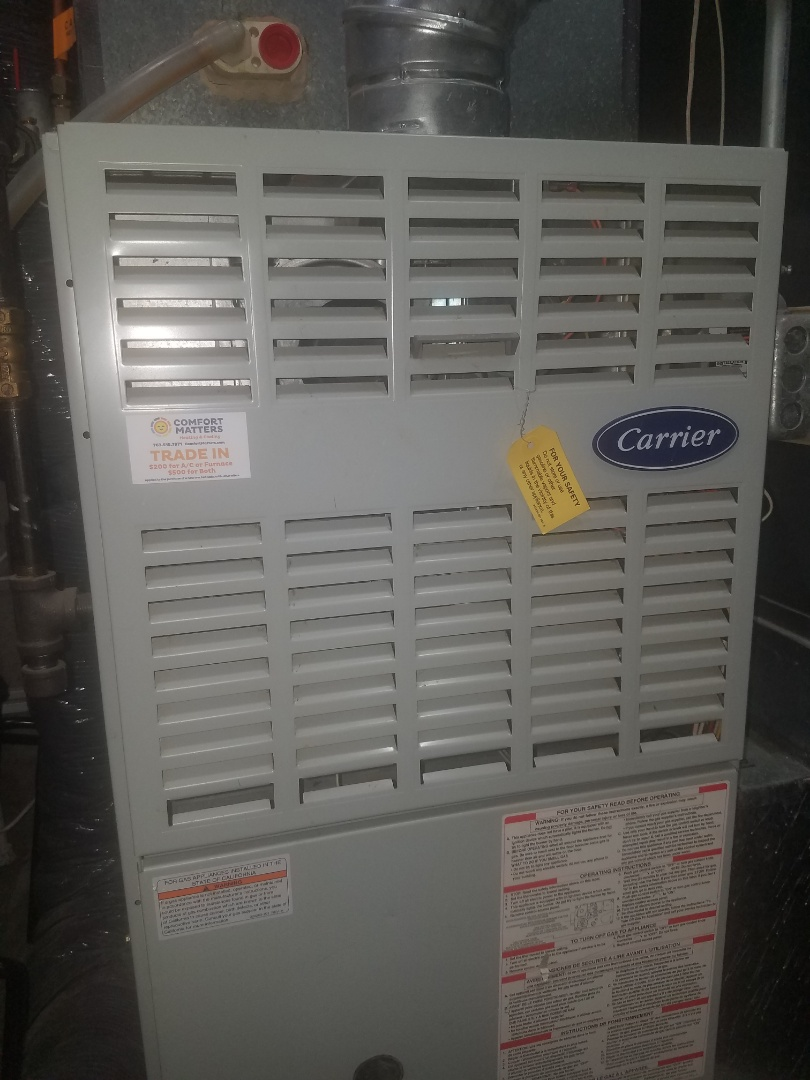 Medina, MN - Replaced main flame safety sensor on Carrier furnace in Maple Grove