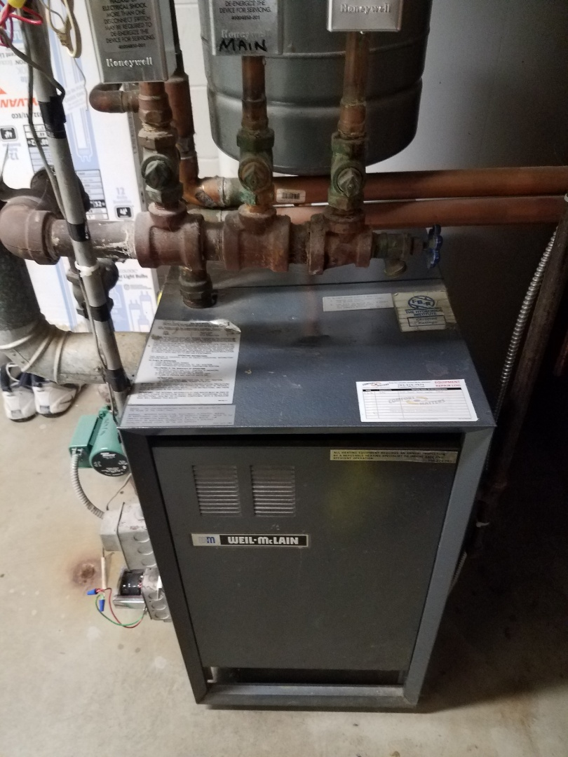 Rockford, MN - Boiler maintenance. Filled a Weil McLean boiler.
