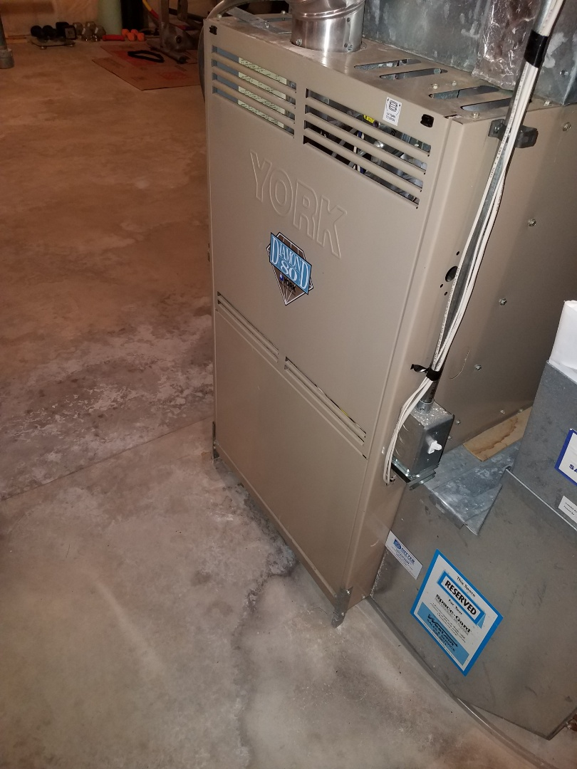 Plymouth, MN - Replaced failed blower motor on York furnace in Plymouth