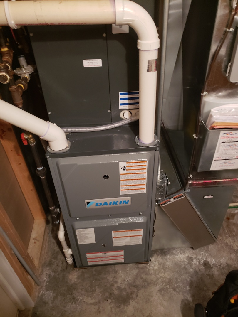 Osseo, MN - Indoor air quality. Installed a Pure Air X electronic air cleaner on a Daikin funrace.