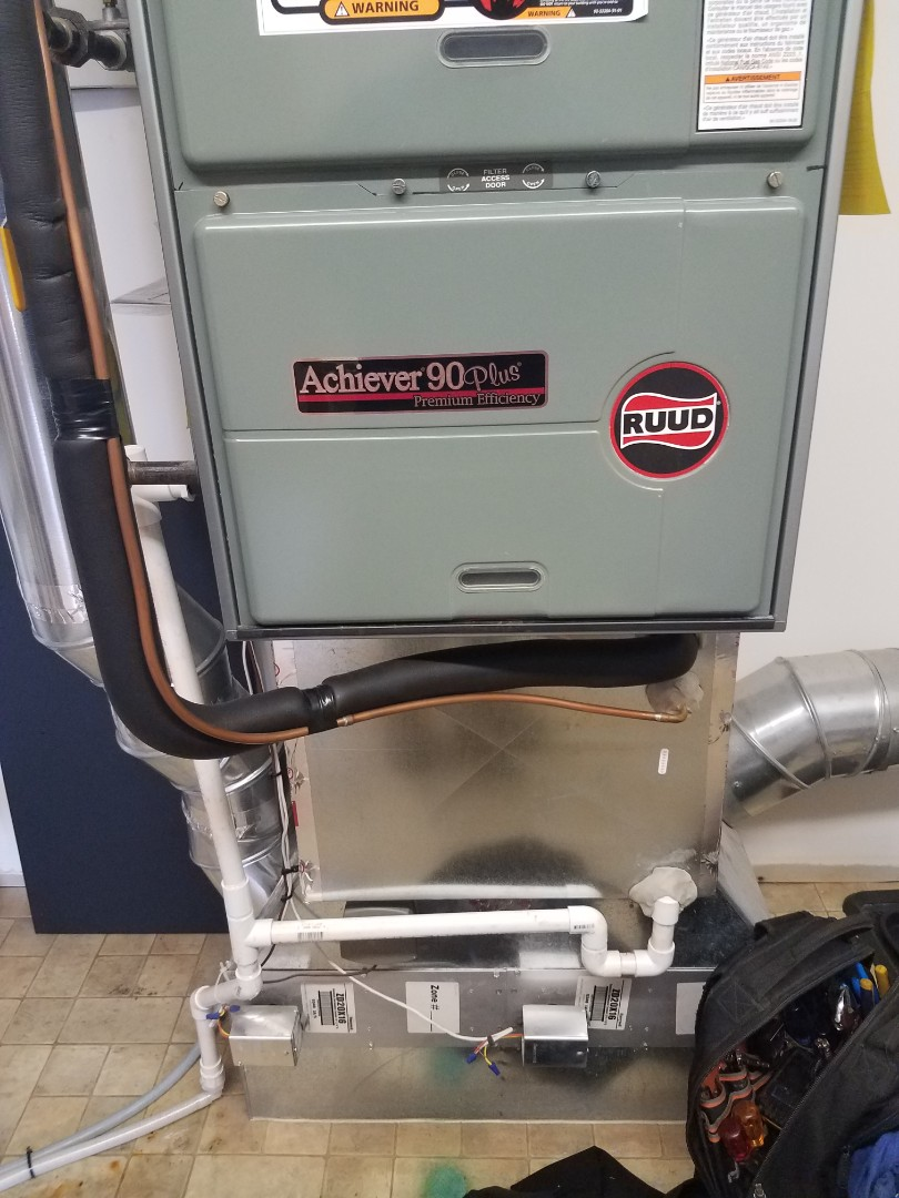 Rogers, MN - Furnace tune up and clean on Ruud unit in Hanover