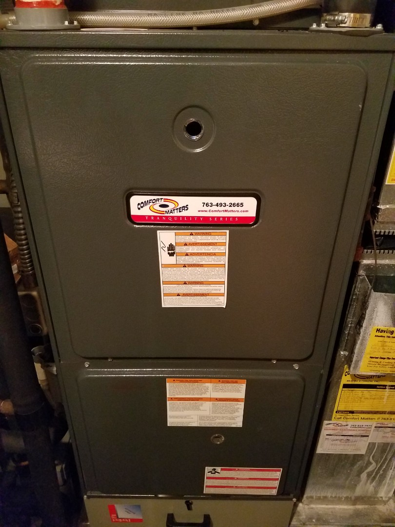 Buffalo, MN - Furnace maintenance. Replaced faulty inducer motor on a Comfort Matters.