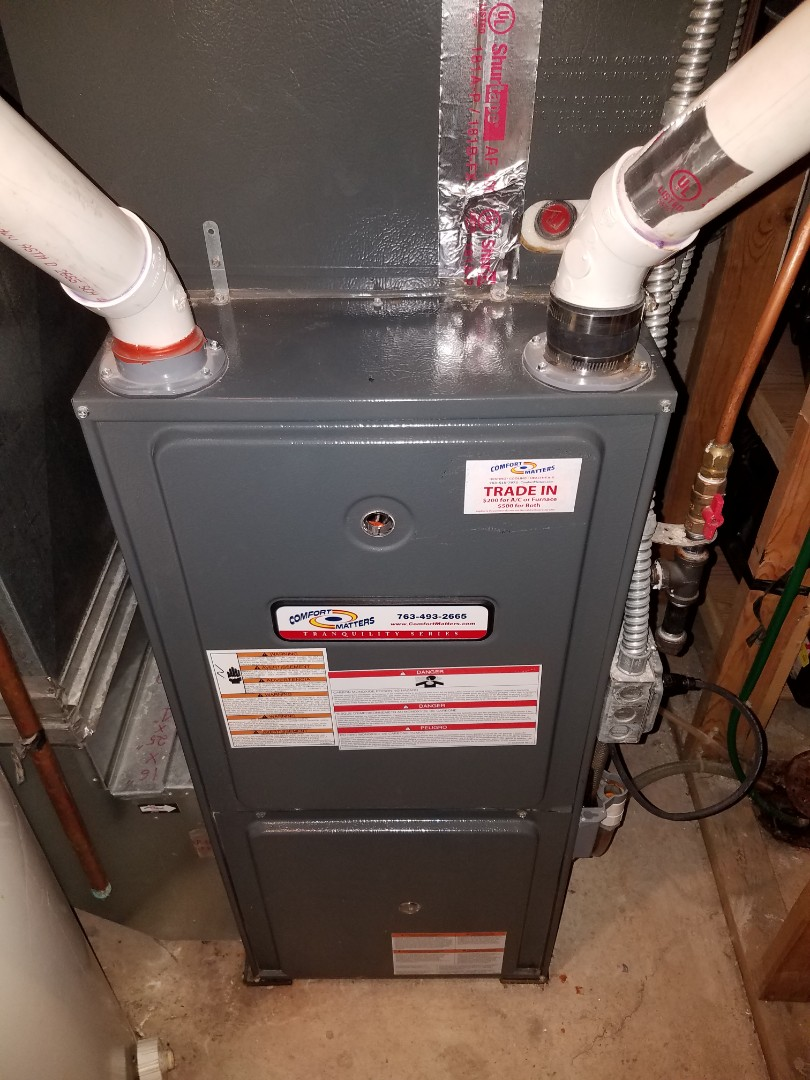 Maple Plain, MN - Heating maintenance. Replaced failed blower motor and failed gas valve on a comfort matters furnace.