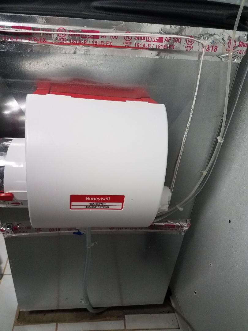 Mound, MN - Humidifier maintenance. Repaired Honeywell humidifier.