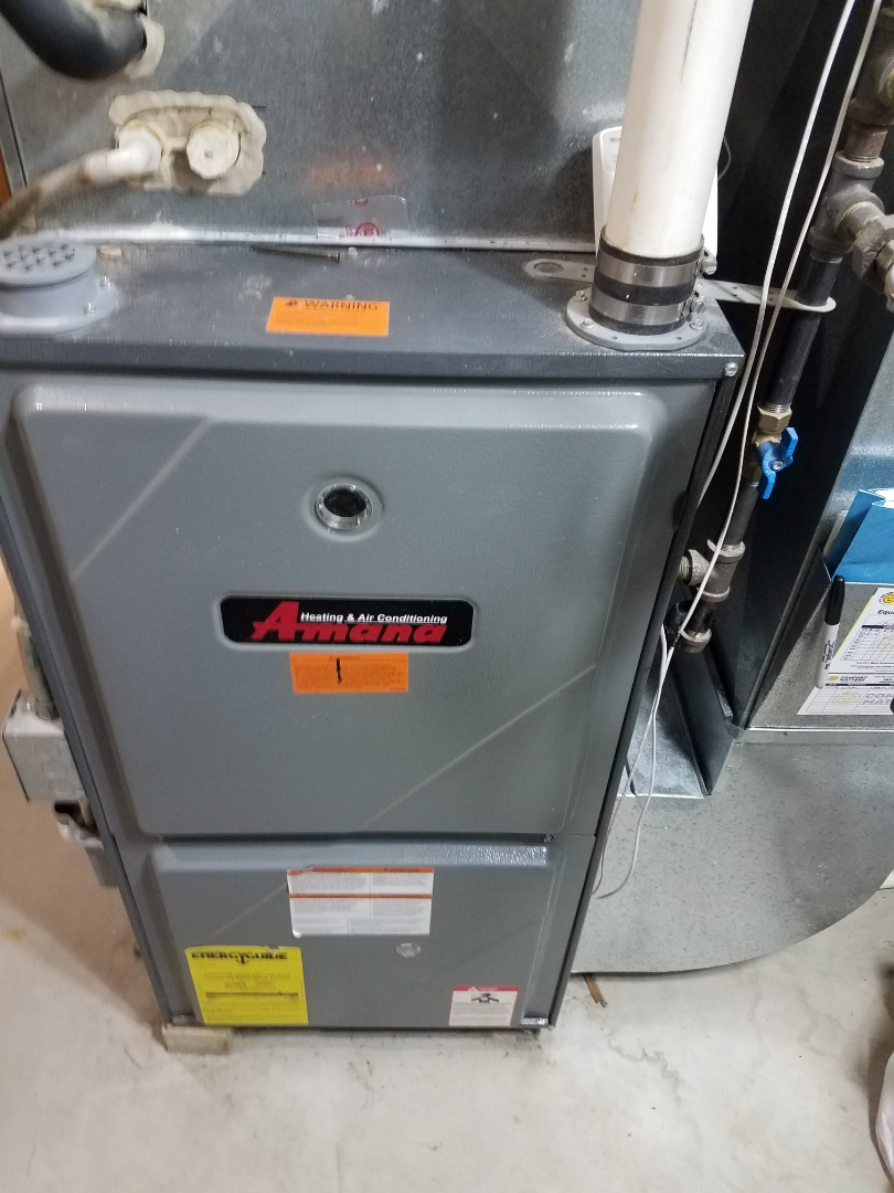 Albertville, MN - Furnace maintenance. Performed tune up and cleaning on a Amana furnace.