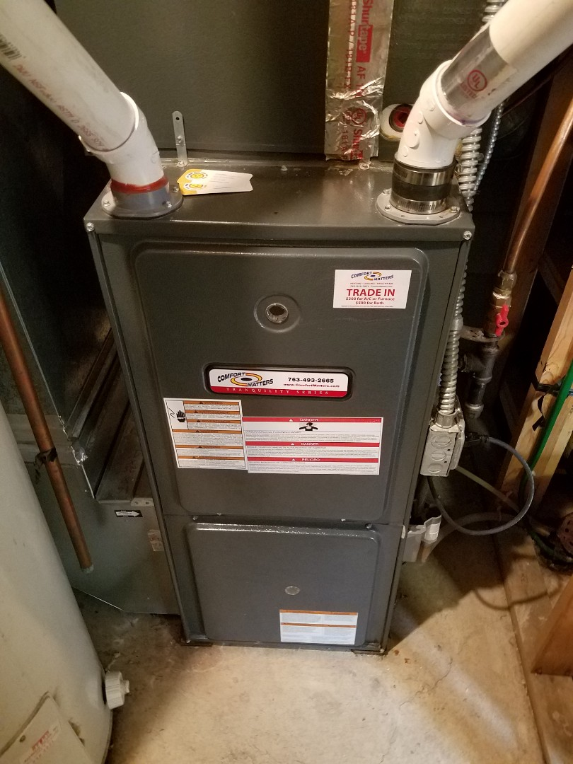 Maple Plain, MN - Heating maintenance. Diagnosed a Comfort Matters furnace and replaced a failed pressure safety switch.