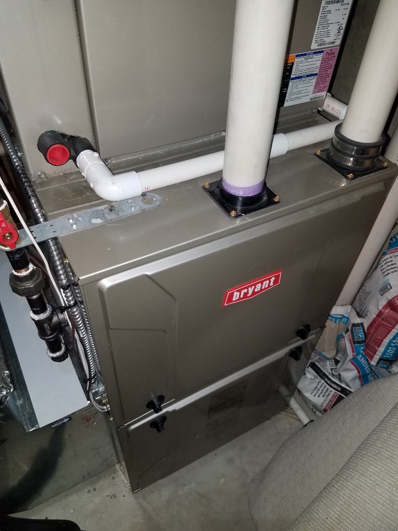Maple Grove, MN - Furnace tune up and clean on Bryant unit in Maple Grove