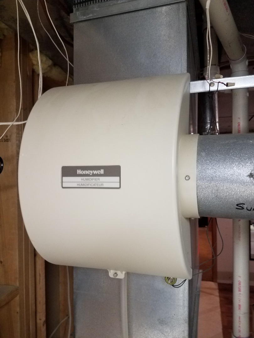 Eden Prairie, MN - Humidifier maintenance. Performed cleaning and tune up on a Honeywell whole home humidifier.