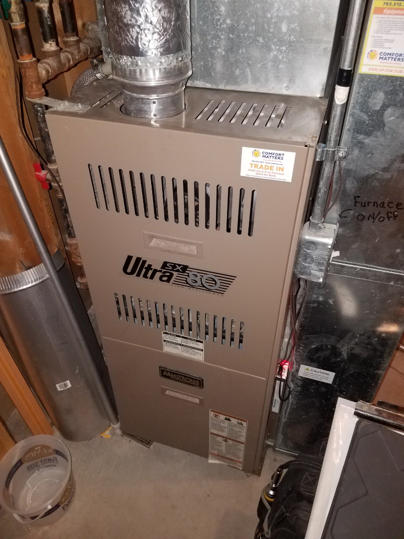 Maple Grove, MN - Furnace tune up and clean on Armstrong unit in Rogers