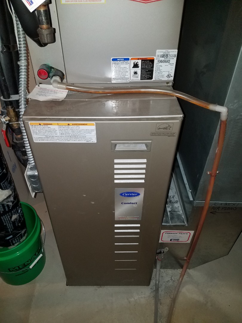 Ramsey, MN - Heating maintenance. Performed cleaning and tune up on a Carrier furnace.