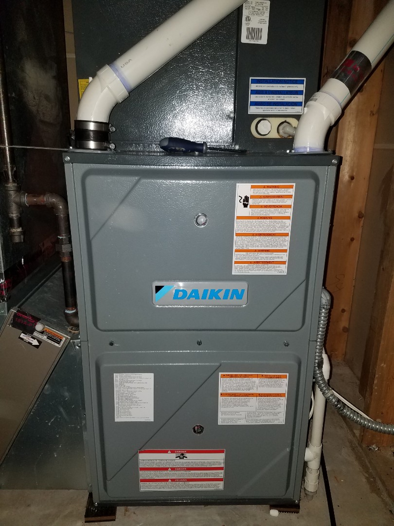 Ramsey, MN - Furnace maintenance. Diagnosed a Daikin furnace.
