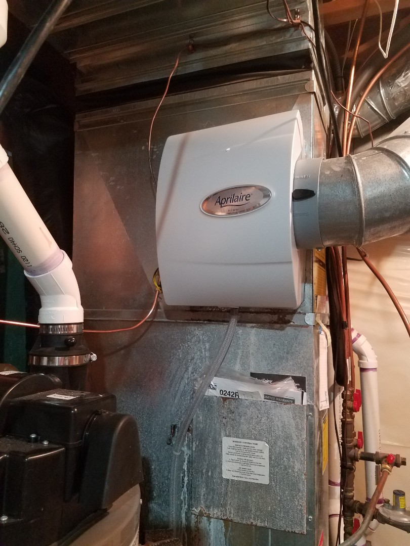 Saint Michael, MN - Humidifier maintenance. Installed a new Aprilaire humidifier.