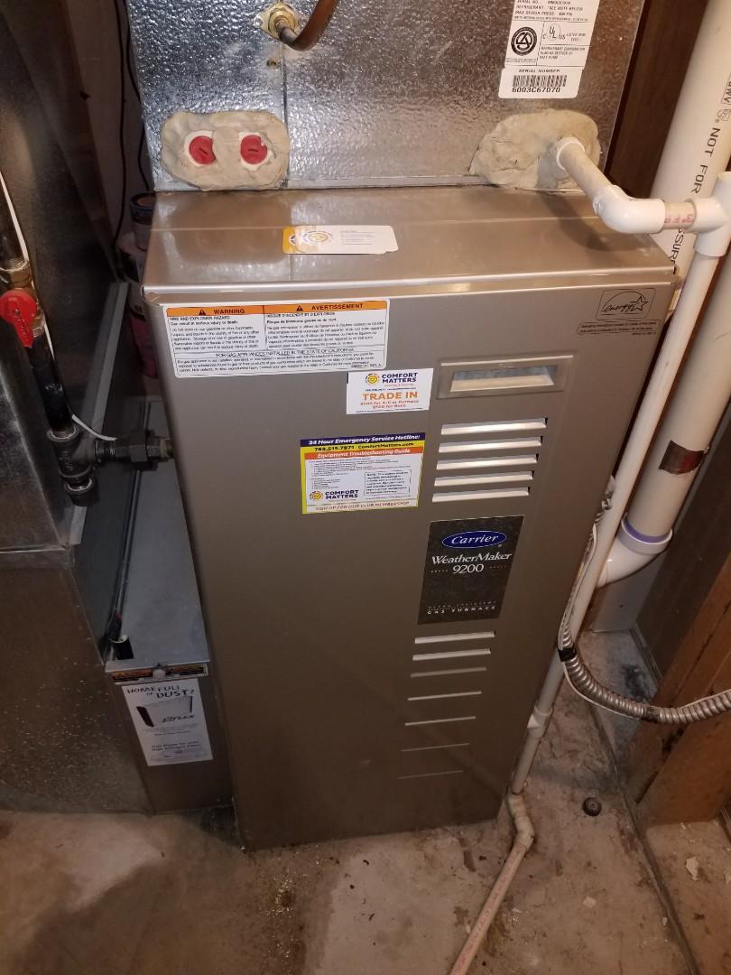 Saint Michael, MN - Furnace maintenance. Diagnosed a Carrier furnace.