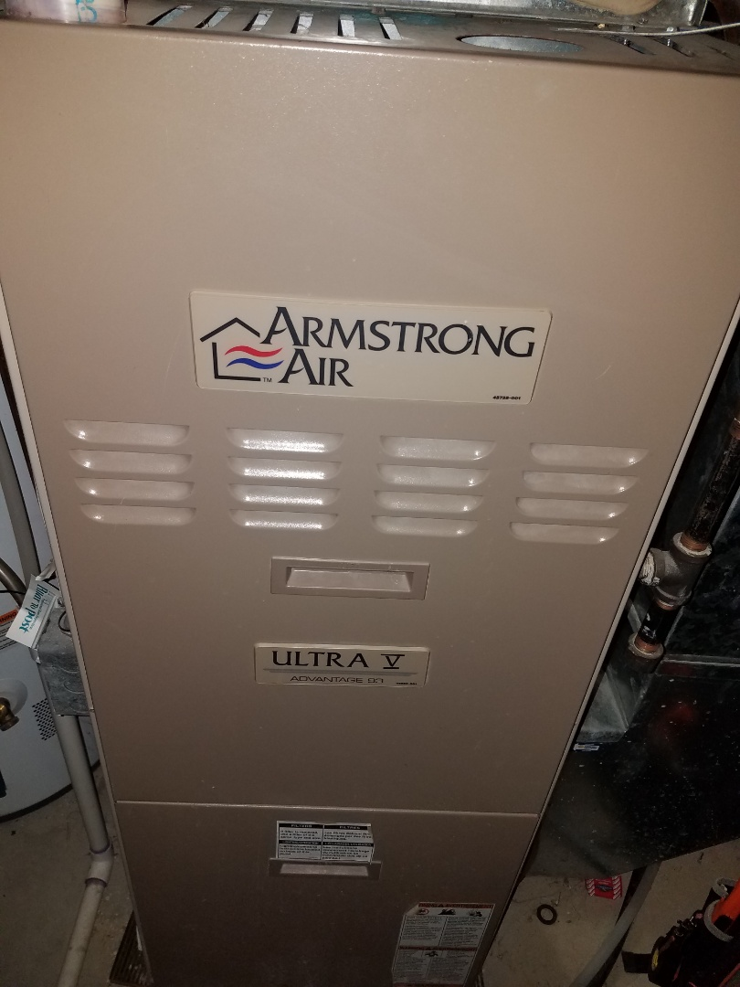 Saint Michael, MN - Heating maintenance. Replaced failed main flame safety sensor on a Armstrong Air furnace.