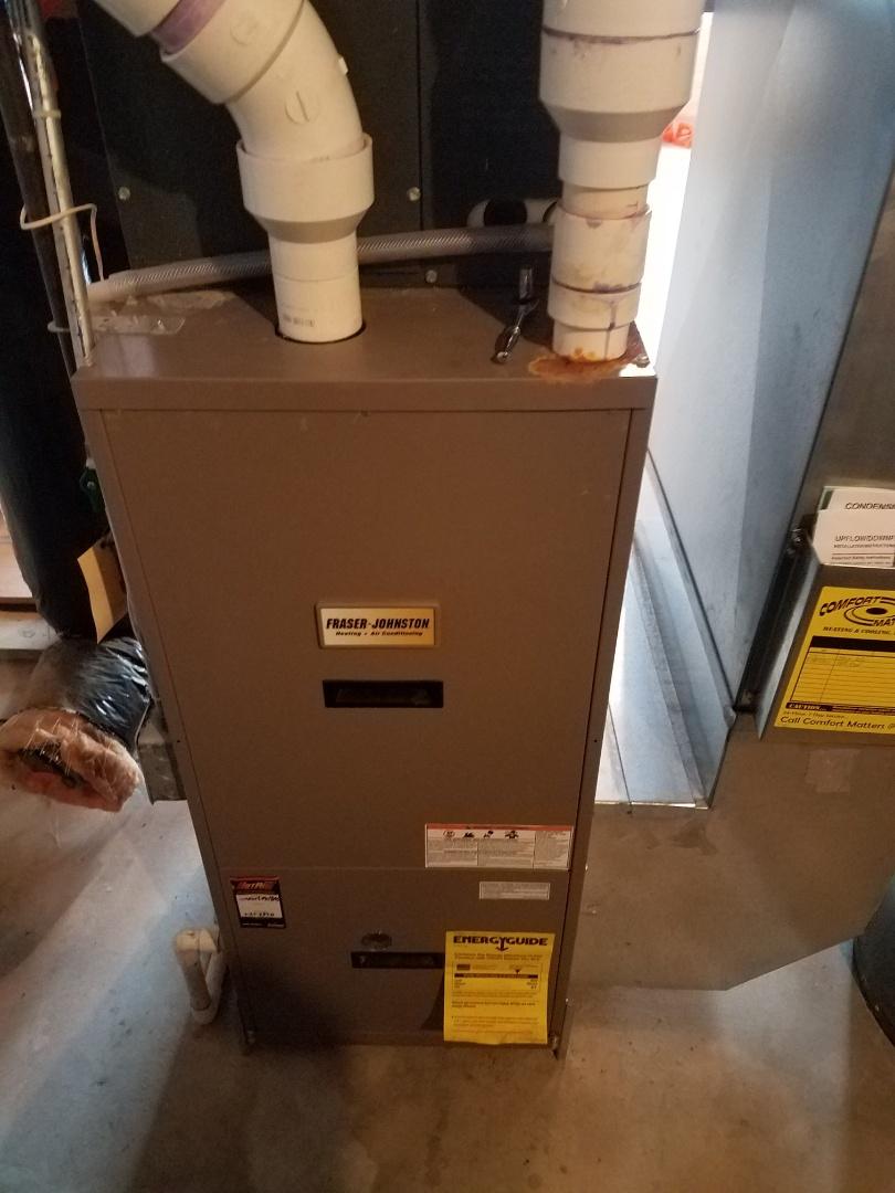 Hanover, MN - Furnace maintenance. Diagnosed a Frasier Johnson furnace.