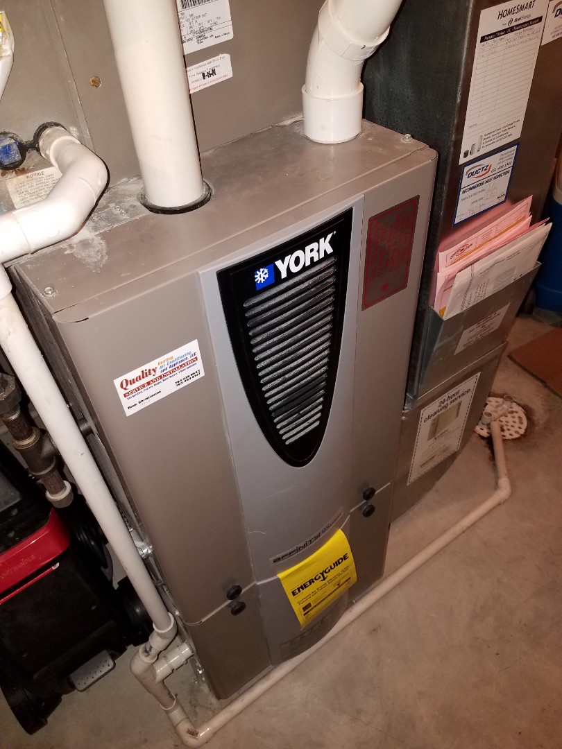 Rockford, MN - Furnace tune up and clean on York unit in Rockford