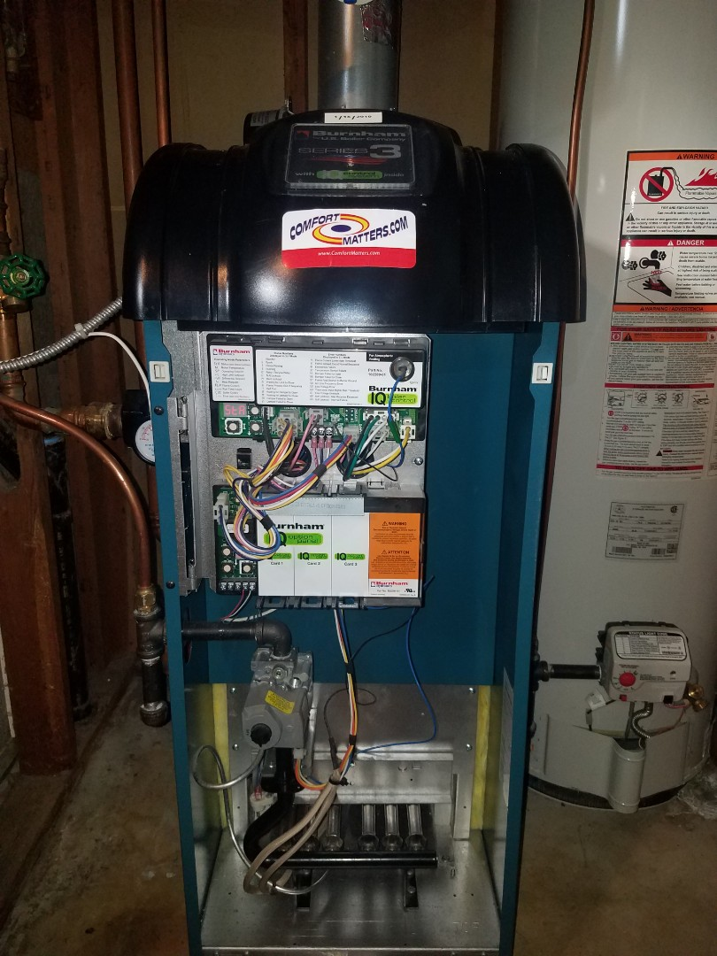 Otsego, MN - Boiler tune up and clean on Burnham unit in Albertville