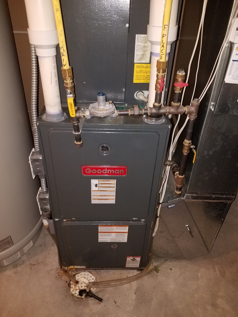 Albertville, MN - Heating maintenance. Diagnosed a Goodman furnace. Installed a new control board and gas valve.