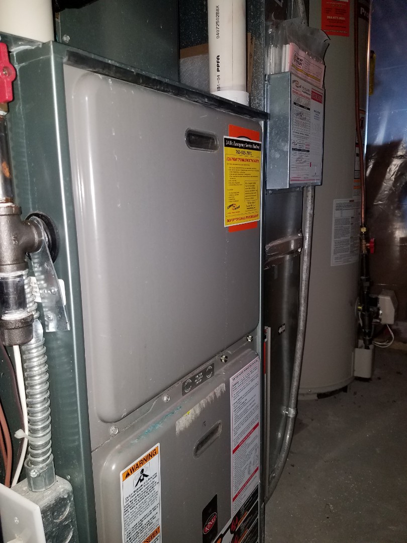 Rockford, MN - Furnace tune up and clean, replace draft motor assembly on Weather King  unit in Rockford