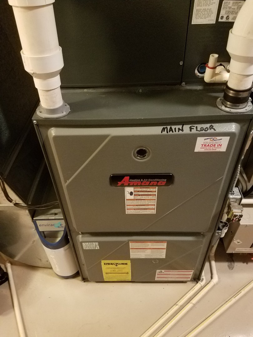 Independence, MN - Furnace maintenance. Performed tune up and cleaning on a Amana furnace.