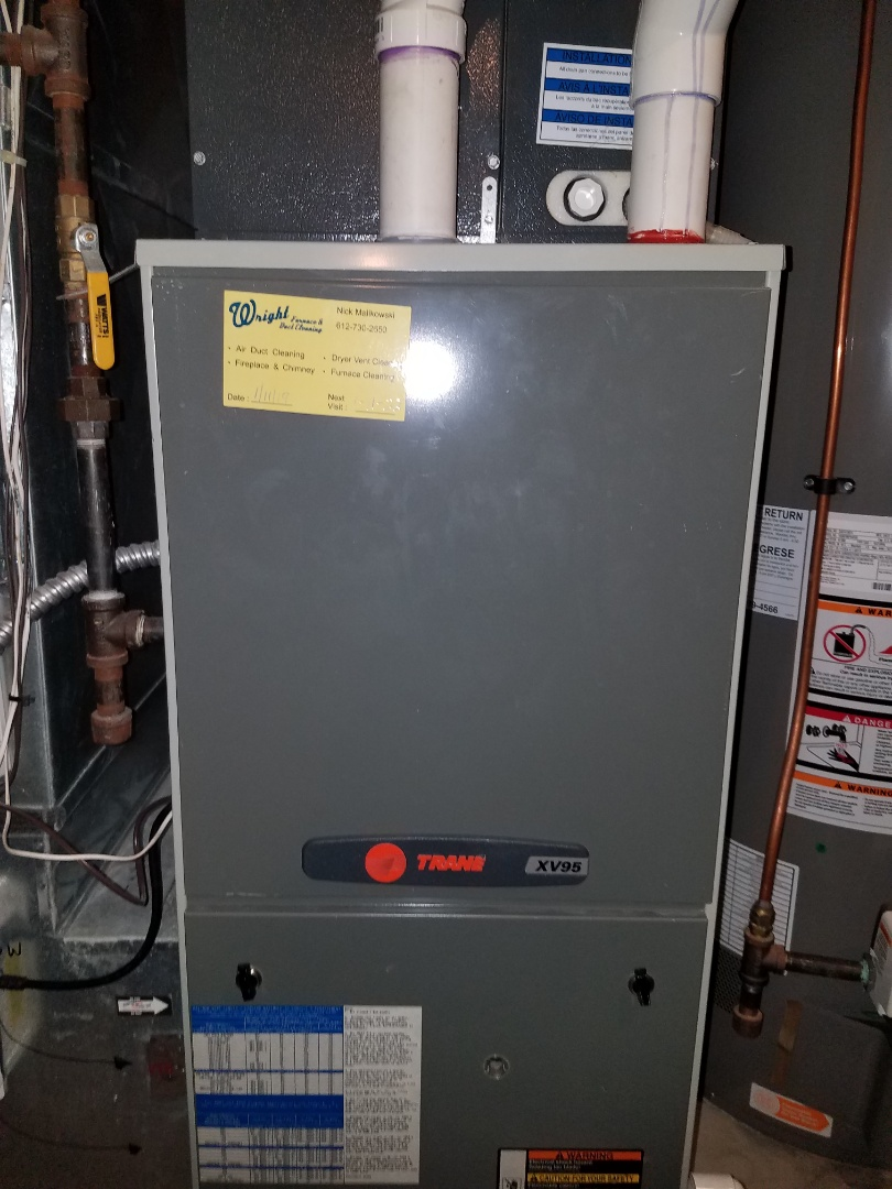 Rockford, MN - Furnace tune up and clean on Trane unit in Hanover
