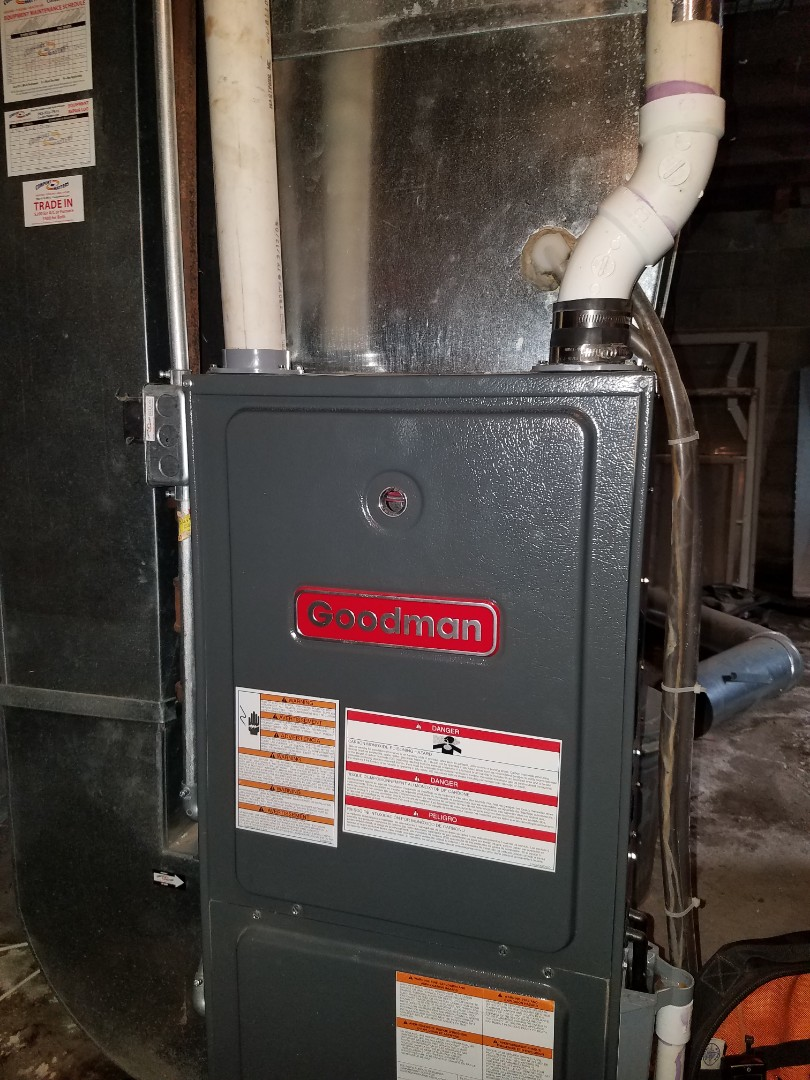 Rockford, MN - Furnace tune up and clean on Goodman unit in Delano