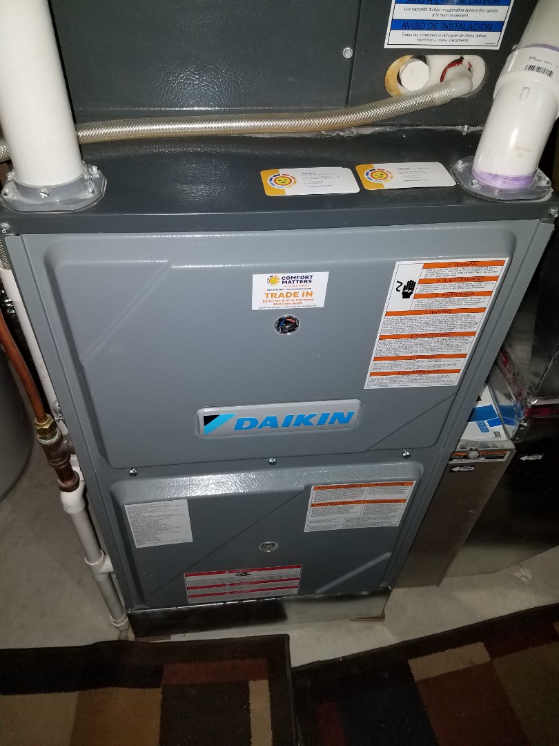 Buffalo, MN - Heating maintenance. performed tune up and cleaning on a Daikin furnace.