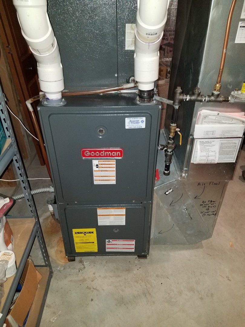 Albertville, MN - Furnace maintenance. diagnosed a failed furnace power switch on a Goodman furnace.