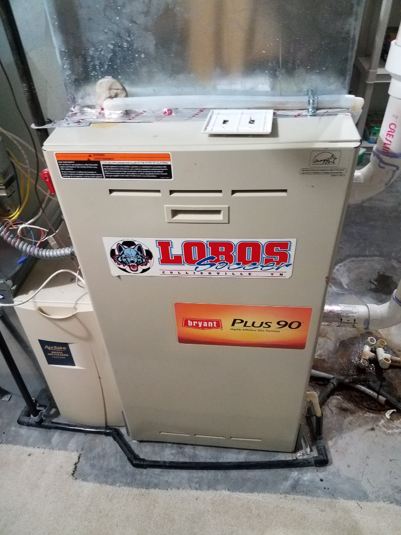 Medina, MN - Heating maintenance. Installed new inducer motor on a Bryant furnace.