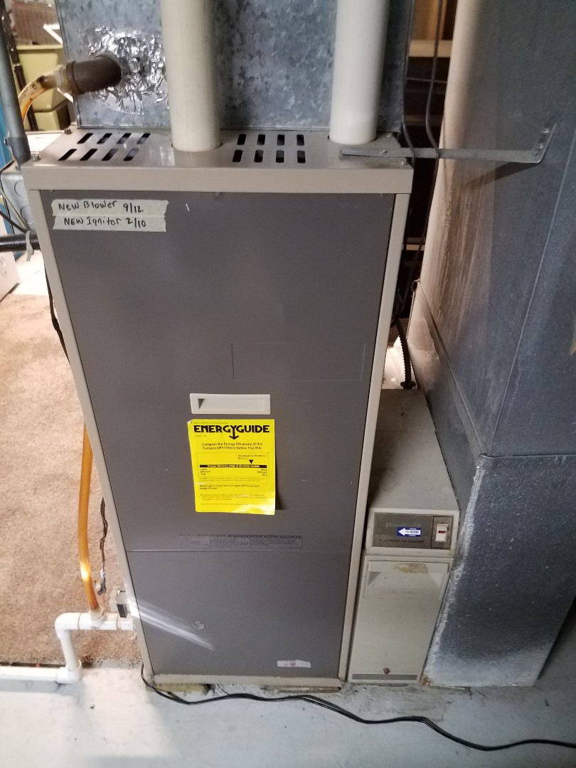 Champlin, MN - Furnace maintenance. Diagnosed a Nordine furnace and replaced the ignition assembly and blower motor starter.