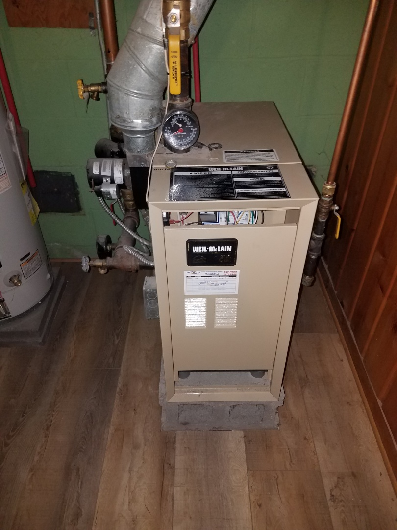 Delano, MN - Boiler maintenance. performed cleaning and tune up on a Burnham boiler.