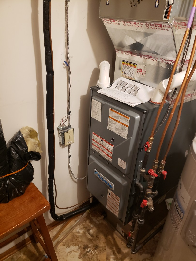 Brooklyn Park, MN - Heating service. Installed a pressure switch on a Daikin furnace.
