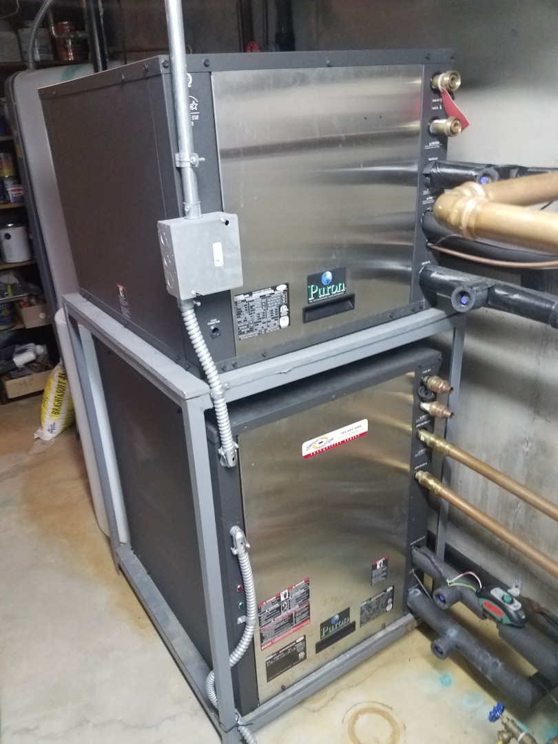Buffalo, MN - Heat pump maintenance. performed tune up and cleaning on two Comfort Matters geothermal heat pumps
