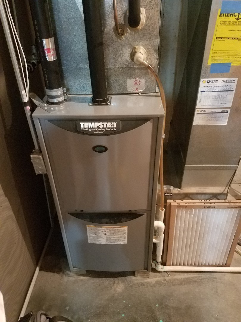 Buffalo, MN - Heating maintenance. Performed cleaning and tune up on a Tempstar furnace.