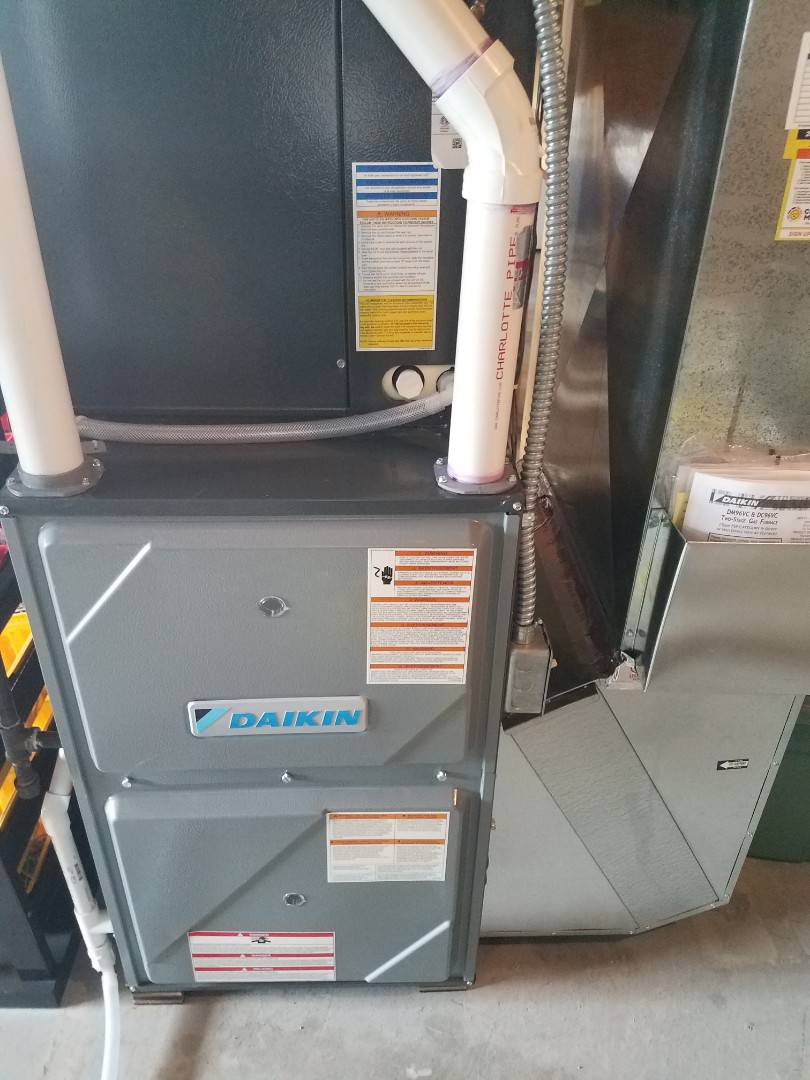Buffalo, MN - Furnace maintenance. Performed tune up and cleaning on a Daikin furnace.