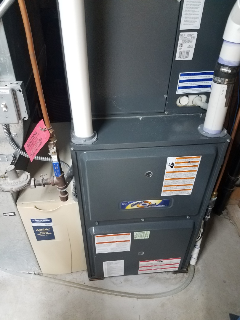 Rogers, MN - Heating maintenance. Performed cleaning and tune up on a Comfort Matters furnace.