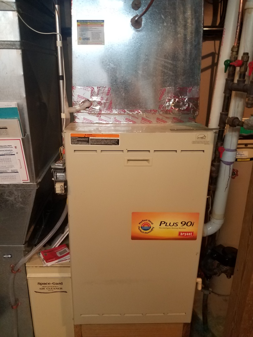 Orono, MN - Furnace maintenance. Diagnosed a Bryant furnace with Arzel zoning.