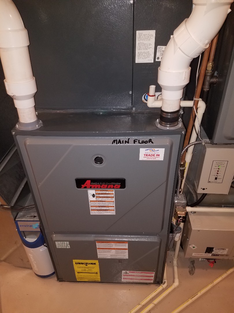 Independence, MN - Heating maintenance. Diagnosed an Amana furnace.