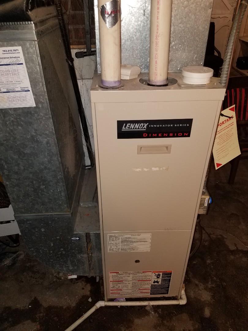 Buffalo, MN - Furnace maintenance. Diagnosed a Lennox furnace.