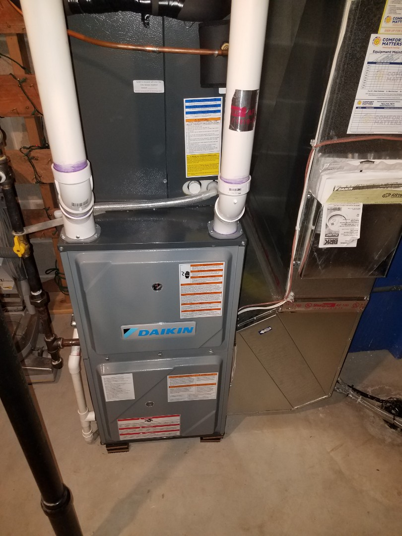 Hanover, MN - Furnace maintenance. Performed tune up and cleaning on a Daikin furnace.