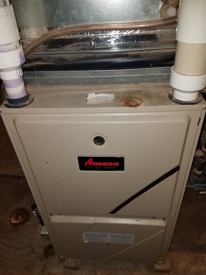 Buffalo, MN - Furnace maintenance. Performed tune up and cleaning on a Amana furnace.