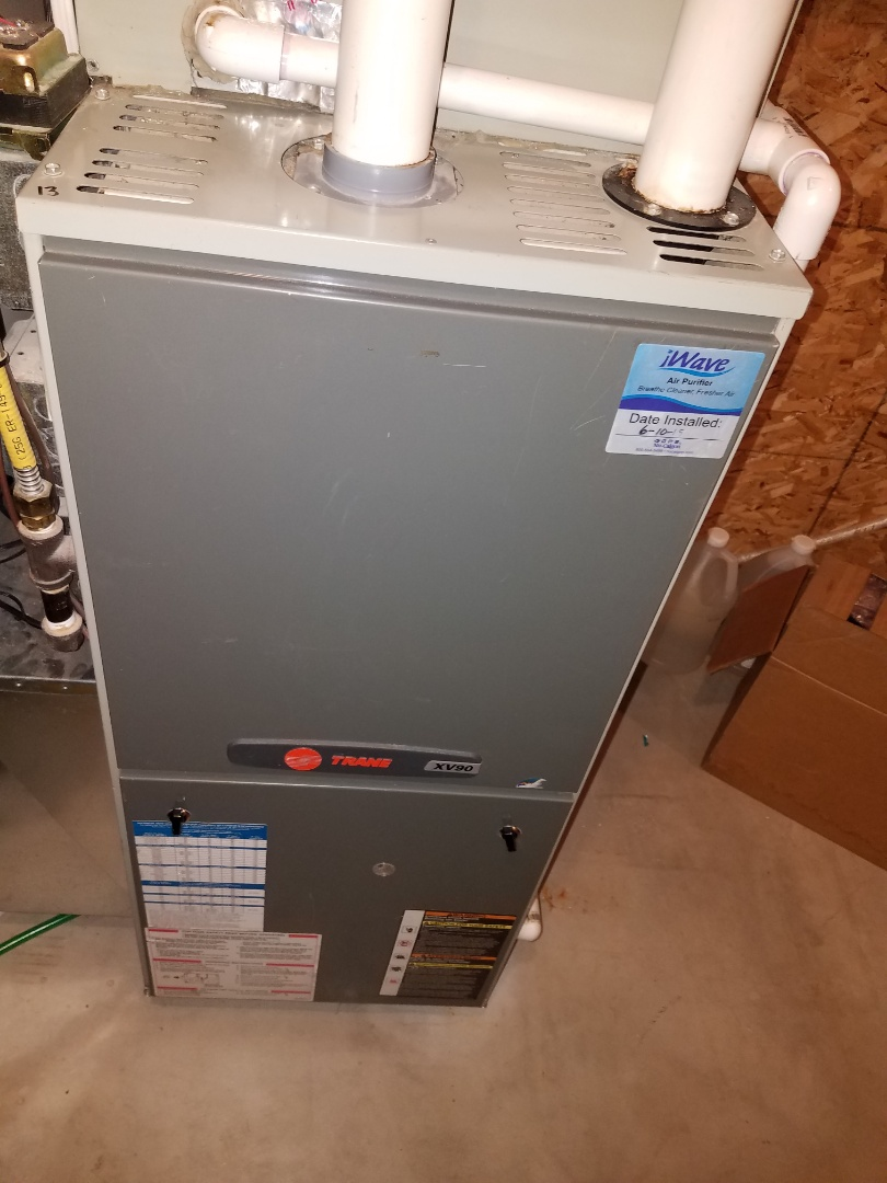 Hanover, MN - Furnace maintenance. Performed tune up and cleaning on a Trane furnace.