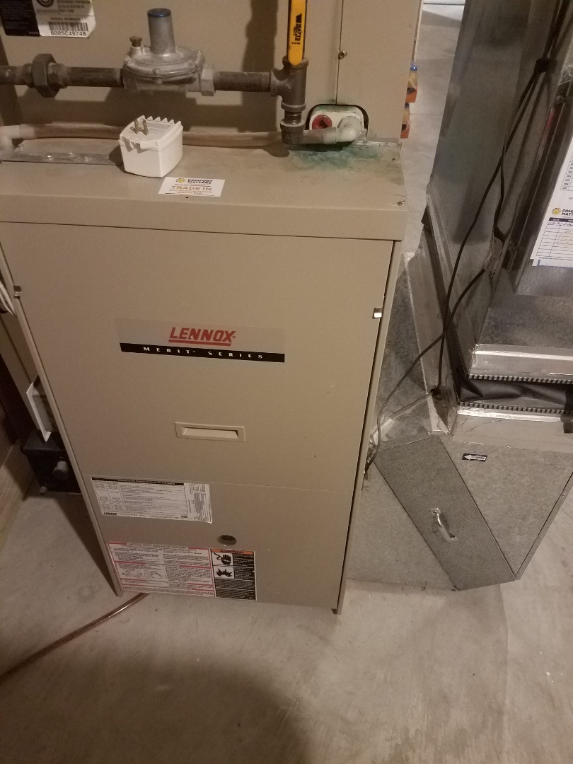 Osseo, MN - Heating maintenance. performed cleaning and tune up on a Lennox furnace.