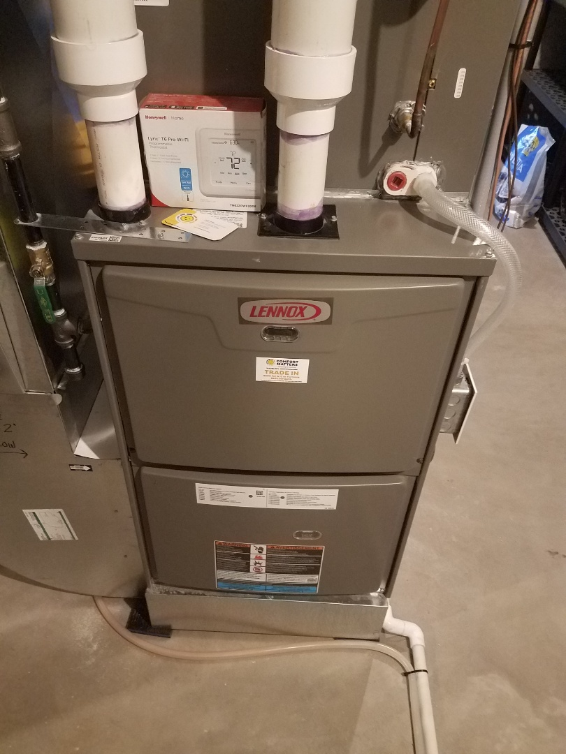 Saint Michael, MN - Furnace maintenance. Performed tune up and cleaning on a Lennox furnace. Installed bird screens on venting.
