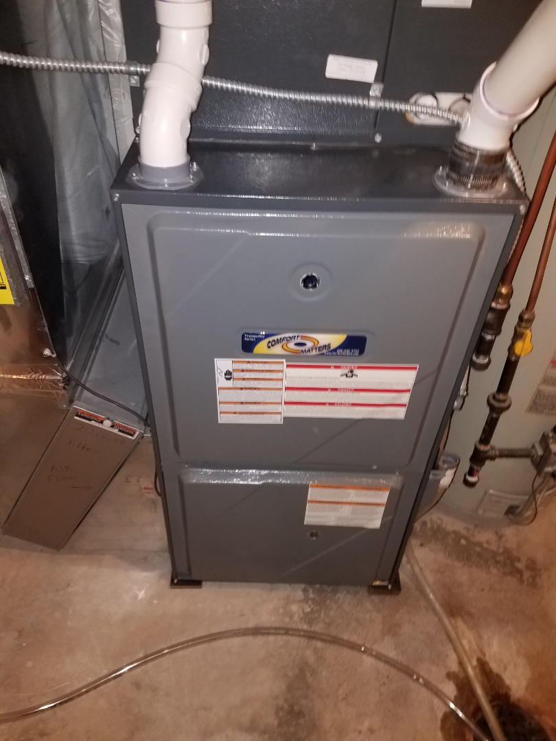 Rogers, MN - Furnace maintenance. Performed tune up and cleaning on a Comfort Matters furnace.