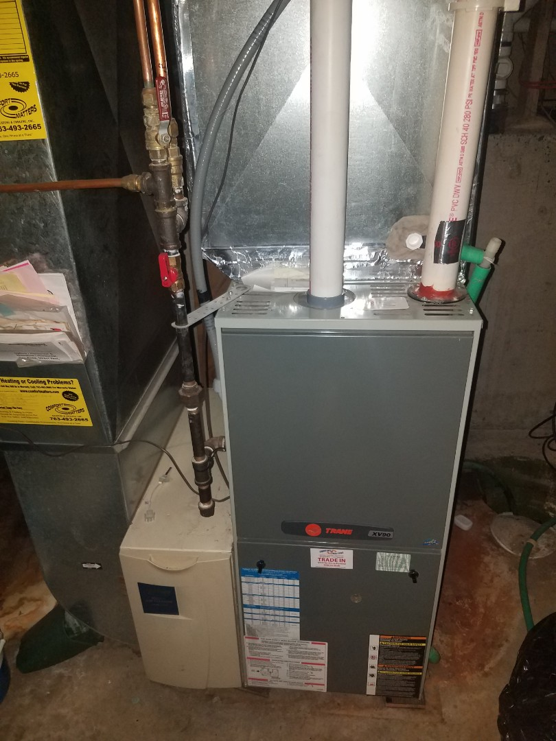 Corcoran, MN - Furnace maintenance. Performed tune up and cleaning on a Trane furnace.
